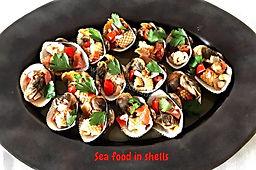 Food presentations, seafood , clams