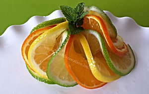 Fruit citrus garnishing / food decorating