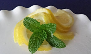 Fruit decoration /  Lemon garnish