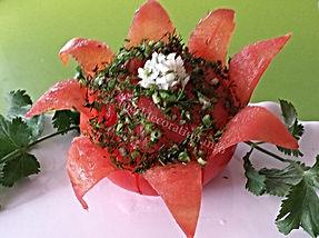 tomato garnish /  vegetable decoration