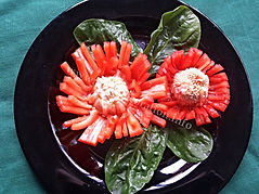 Food decoration / Pepper garnish