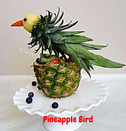 Fruit decorating for kids / Pineapple decorating
