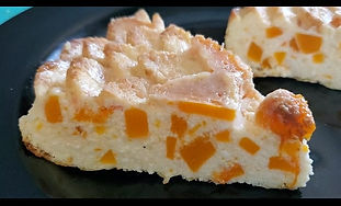 Curd Casserole with pumpkin