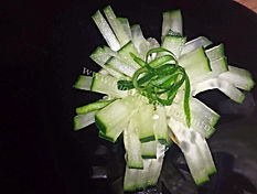 Vegetable decoration / cucumber garnish