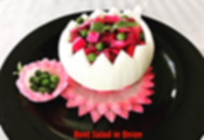 Food decorating,  banquet dishes