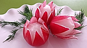 Food decoration from radish