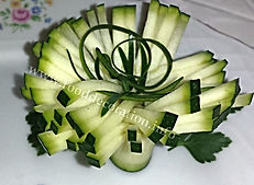 garnish from zucchini / Vegetable Decoration