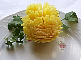 Turnip food decoration  / vegetable garnish