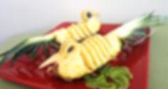 Pineapple dessert, fruit dessert, fruit presentation, pineapple, ананас, подача ананаса