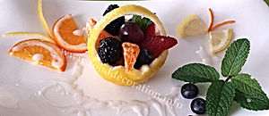 Food decorating / lemon garnish