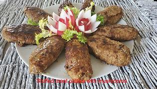 Stuffed meat patties with mushrooms