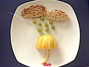 Fruit decoration for kids /grape and apple garnishing