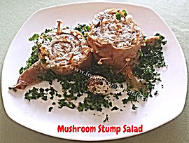 Food presentation / mushroom salad
