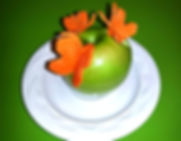 Garnish for kids /  apple and carrot