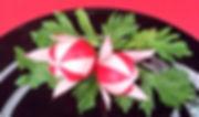 radish food decoration / Vegetable decoration
