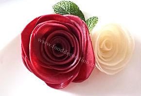 Vegetable decorations / turnip garnish
