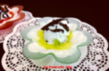 Mint Ice Cream with Jelly, Dessert, Dessert presentation, Jelly presentation, Food decorationg, food presentation, Ice cream presentation