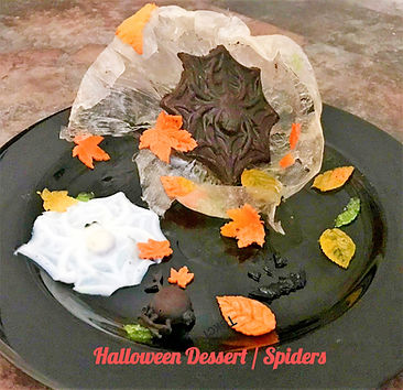 Halloween Dessert, agar agar dessert, halloween dessert presentation, agar agar