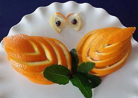 Orange decorations / Orange garnish
