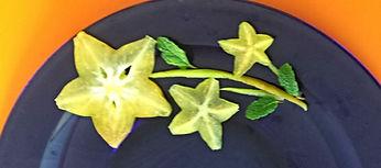 Fruit decoration / starfruit garnish