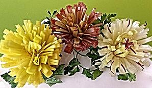Food decoration / Leek garnish