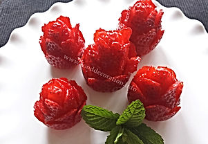 Strawberry garnish / food decoration