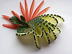 Food decorations / Cucumber garnish