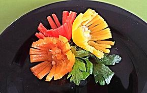 Mini pepper garnish / food decoration