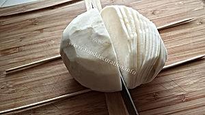 Making chrysanthemum from turnip / vegetable garnishing