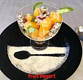 Fruit Cocktail. Dessert Presentation.