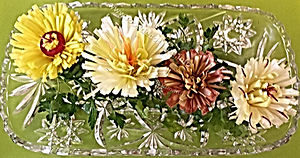 Leek Garnish / vegetable decoration