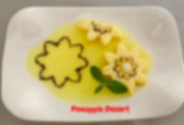 Food decorating / Pineapple, dessert, pineapple with jelly, fruit presentation, fruit decorating