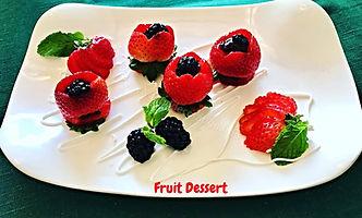 Strawberry Dessert Presentation.