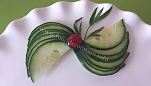 Cucumber garnishing / vegetable decoration