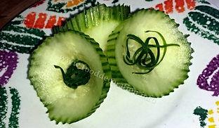 Cucumber garnish / food decoration