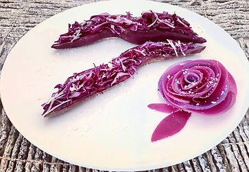 Red cabbage salad, food presentations, vegan food, vegetarian food, healthy food, food decorating