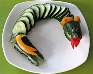 Fun food for kids /Vegetables for kids / Cucumber Dragon /Food decorating for kids