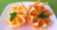 Orange decorations / fruit decorations