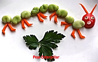 Food decoration for kids / garnishg for kids from pees, fun food for kids