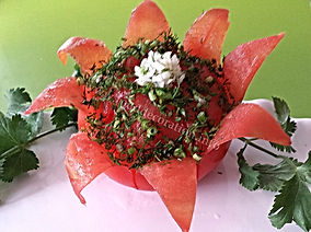 Food decoration / tomato garnish