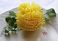 Food decoration /  Garnish from turnip