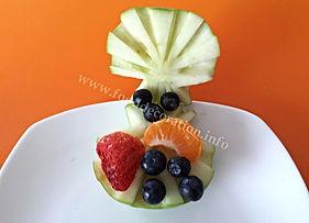 Apple garnish / food decoration
