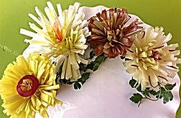 leek food decoration / vegetable garnish
