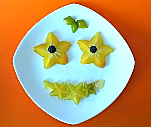 Kids fruit decoration/  starfruit garnish for kids