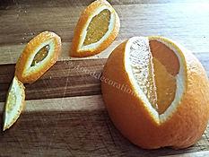 Fruit garnishing / orange