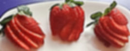 Strawberry decorations / garnish