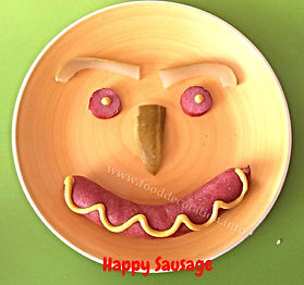 Food decoration for kids / sausage for kids