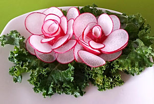 Radish garnish / vegetable garnish from radish
