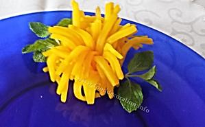 turnip decoration / garnish from turnip
