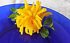 Vegetable  garnish / turnip decoration